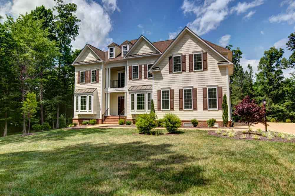 Ashburn home with trees and plants