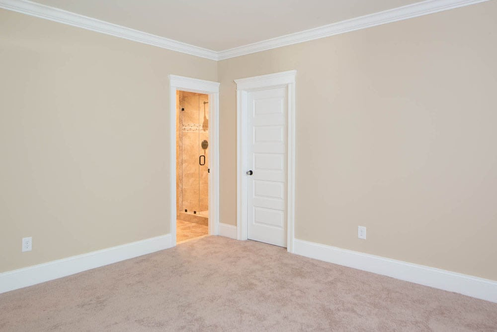 Corner of room in Fairfax home with a bathroom