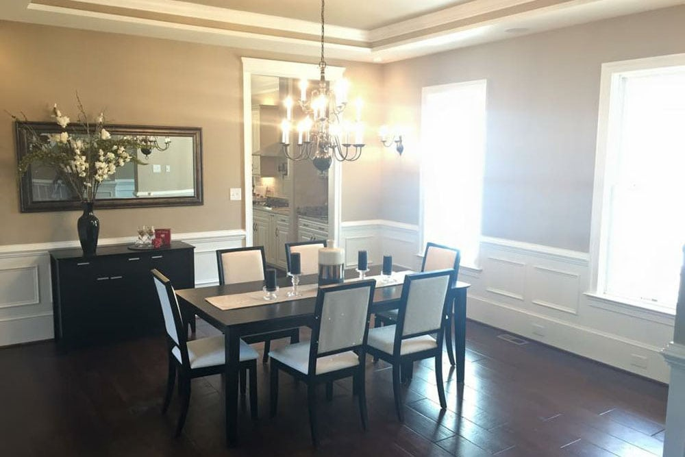 Dining room in Fairfax home