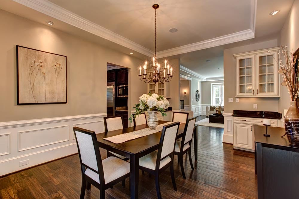 Dining room in new Ashburn home