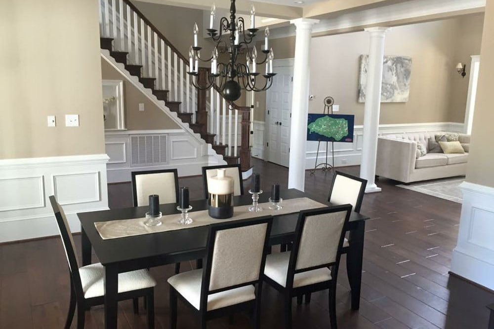 Fairfax home dining room across from sitting area