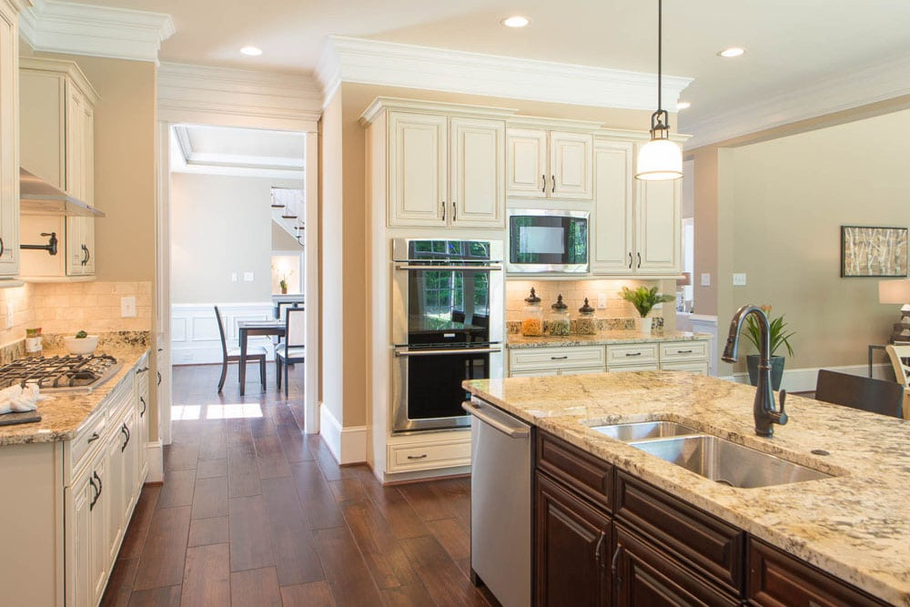 Fairfax kitchen with view of adjoining dining room