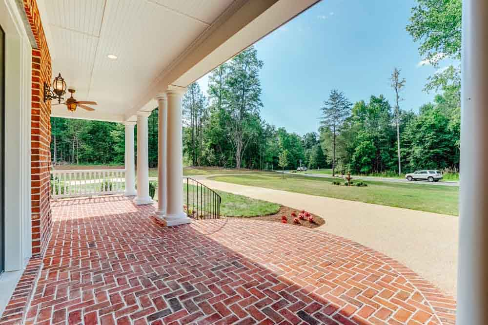 Front brick porch of Middleburg home
