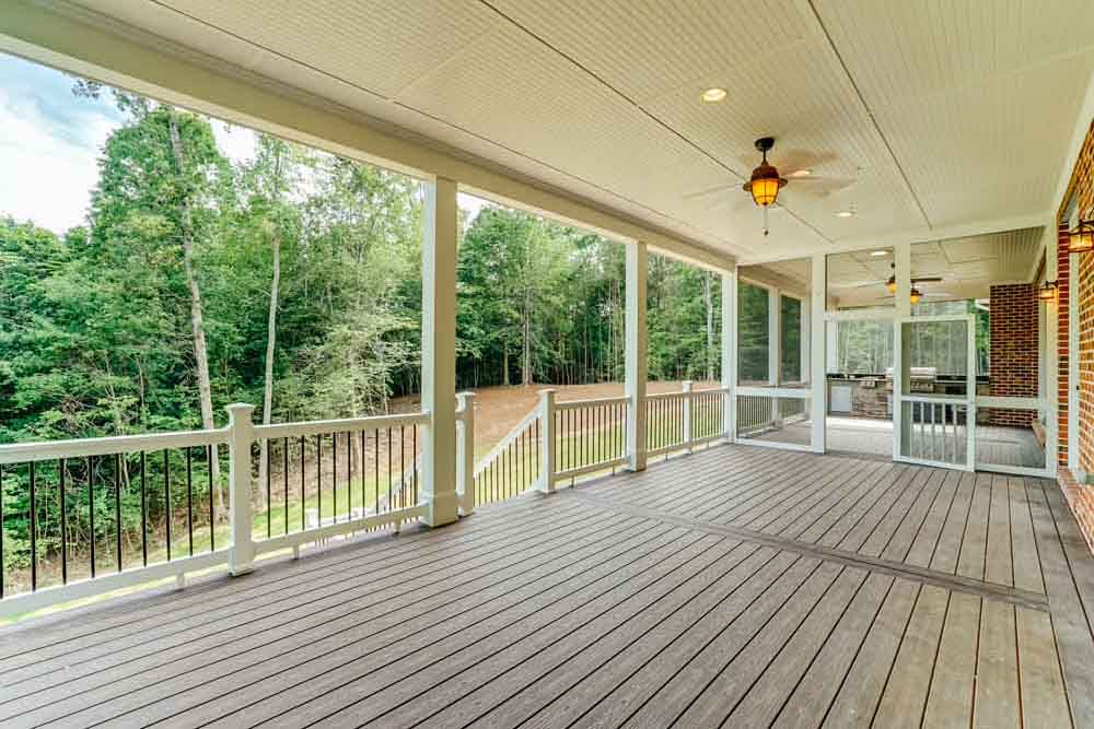 Front porch leading into screened in area of Middleburg house