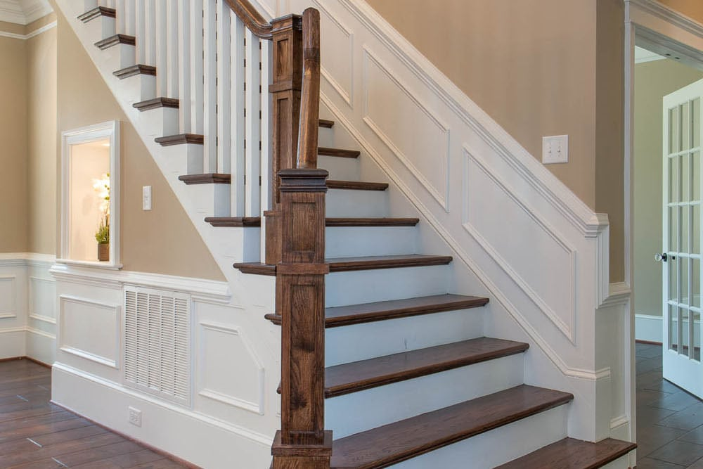 Front stairs in Fairfax home