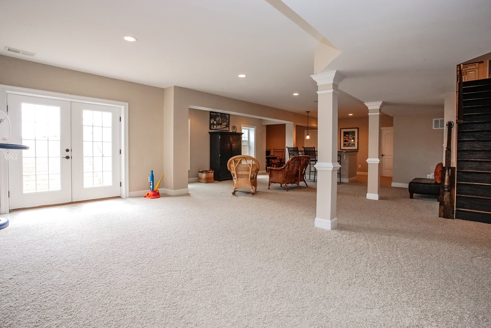 Full view of furnished Nokesville basement