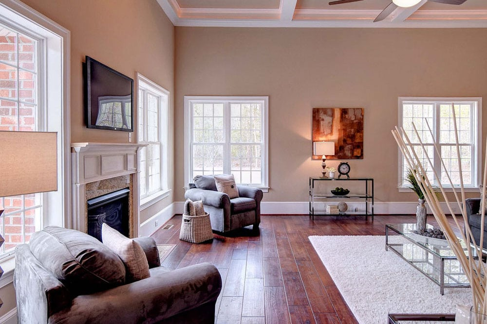 Furnished Fairfax home living room with couches and television
