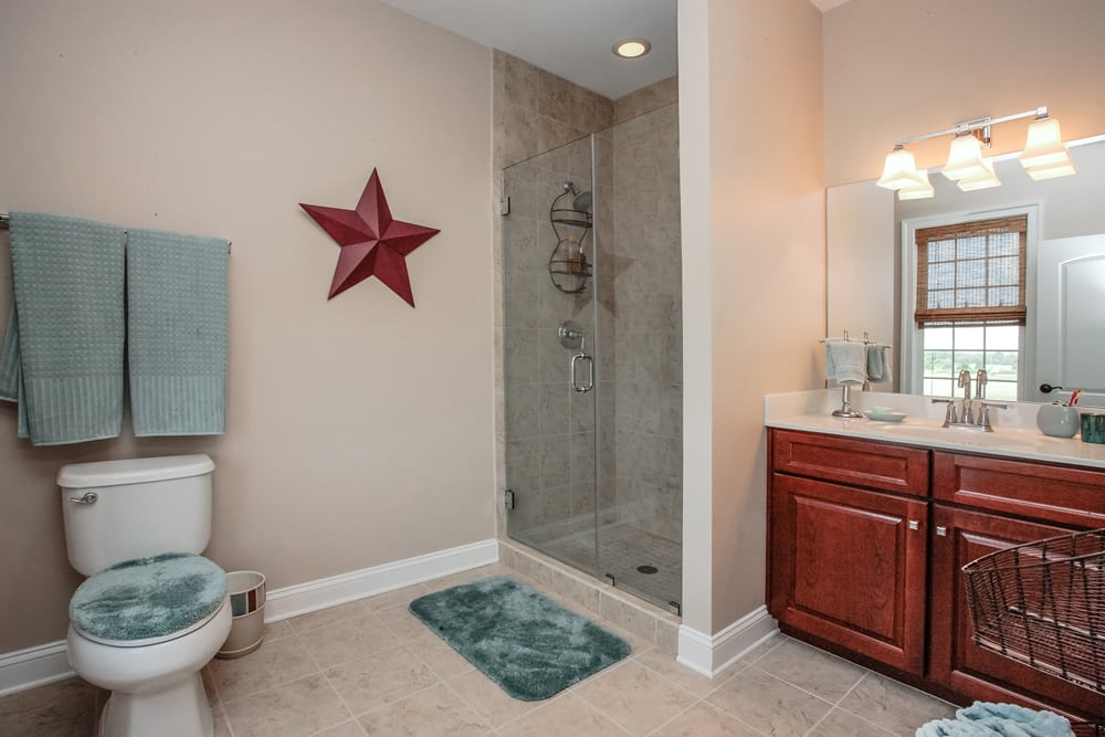 Furnished guest bathroom in Nokesville home