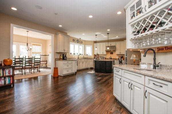Open concept kitchen in this new nokesville va home