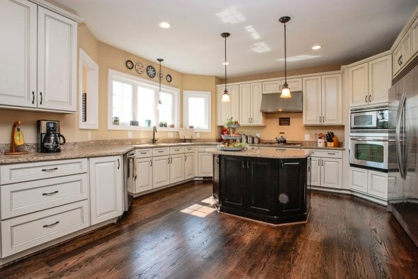 Furnished kitchen in this new nokesville va home