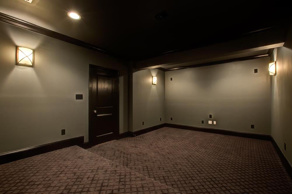 In-home movie theater in new Ashburn home