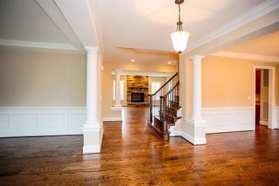 Interior stairs and hallway of Warrenton house