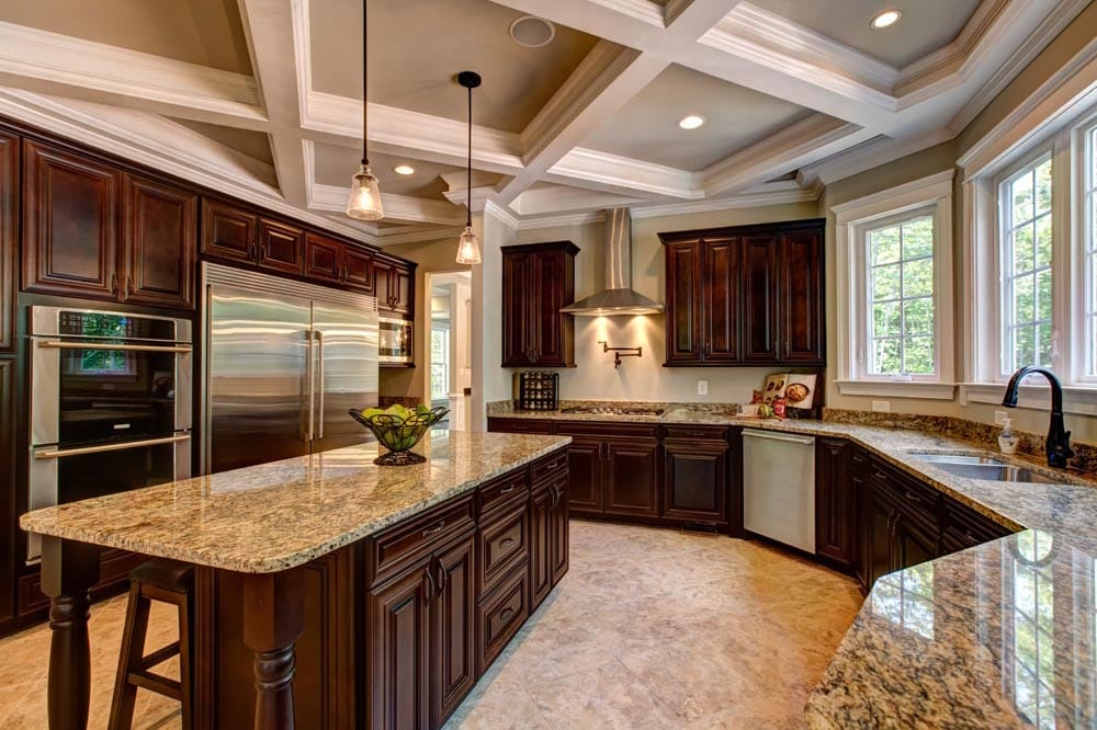 Kitchen view with dishwasher in Ashburn home