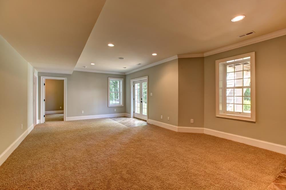 Large basement with windows in Ashburn home