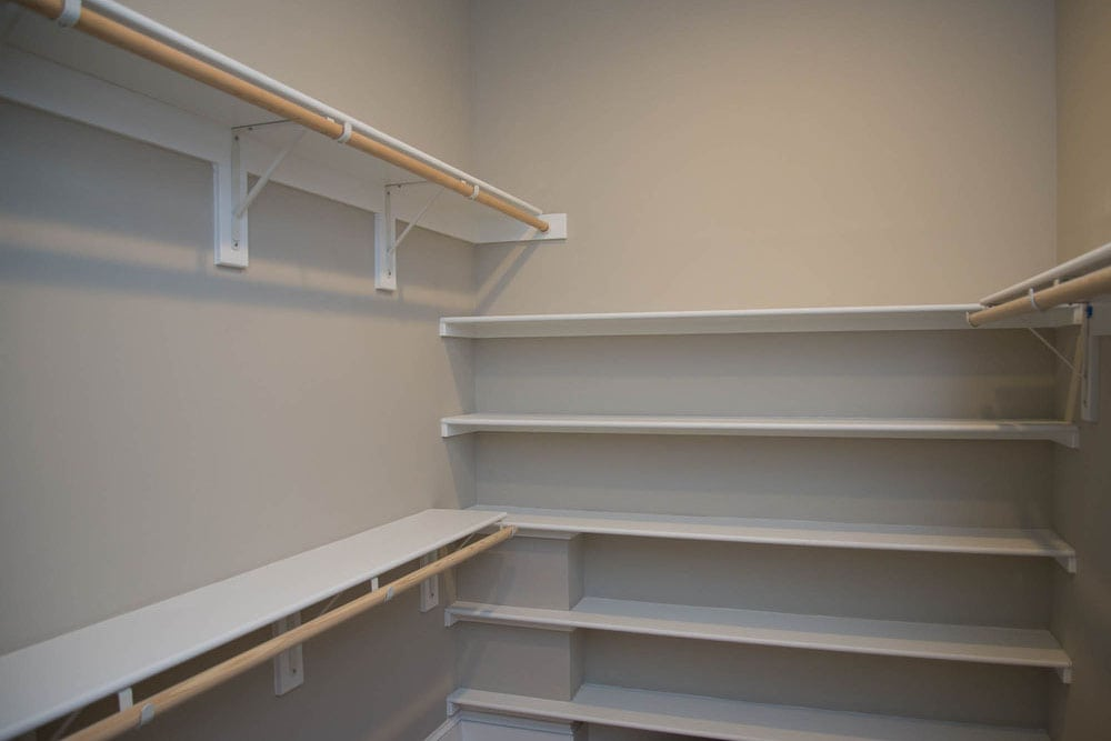 Large closet with shelves