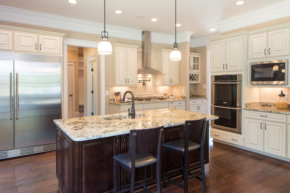 Large kitchen in Fairfax home with many amenities