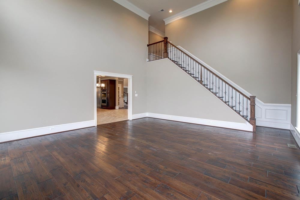 Large room in Culpeper home with stairs leading to 2nd floor