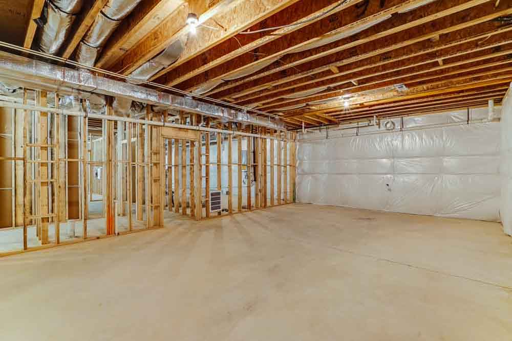 Large room that is unfinished in Middleburg home