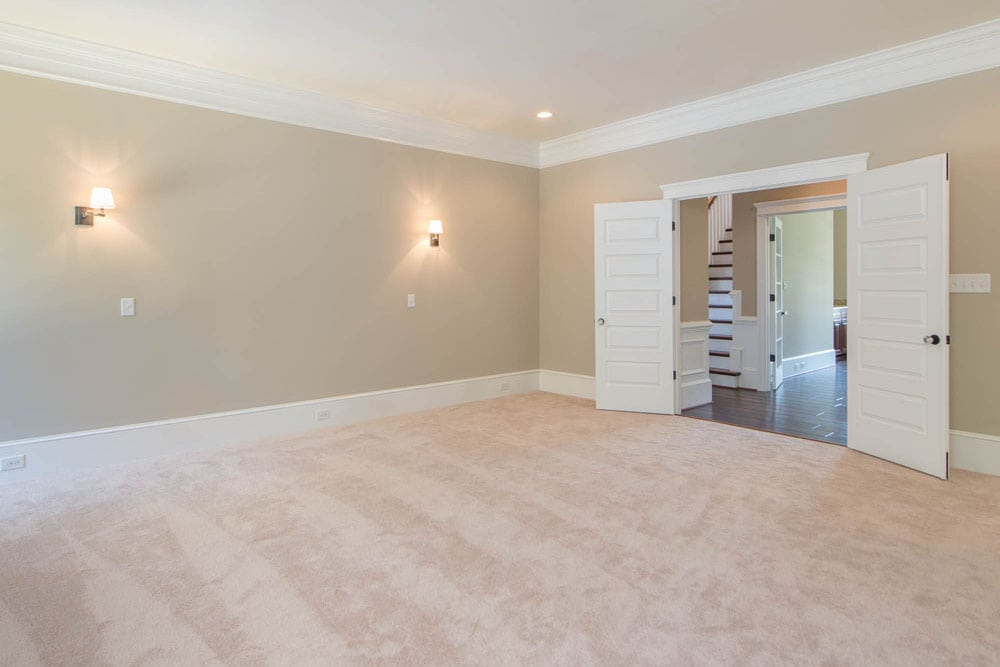 Large room with double doors in Fairfax home
