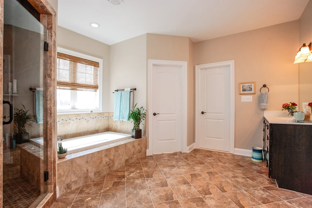 Master bathroom in Nokesville furnished