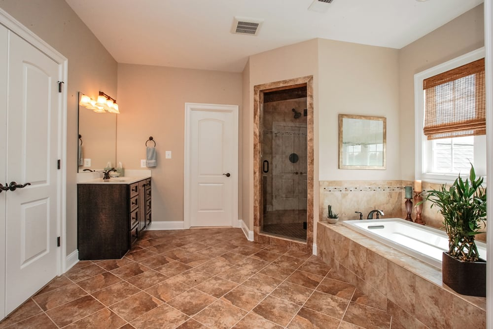 Master bathroom in Nokesville home