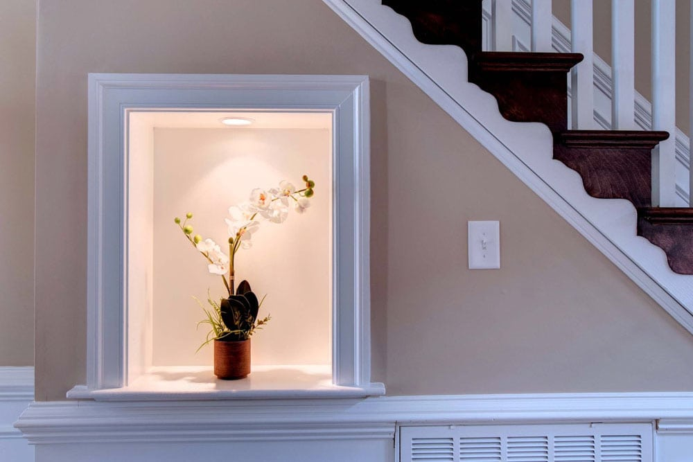Place attached to stairs for Fairfax home decorations