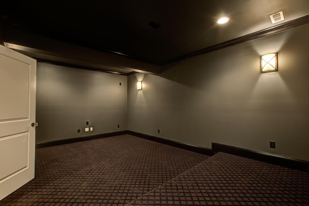 Side angle of in-home movie theater in Ashburn VA