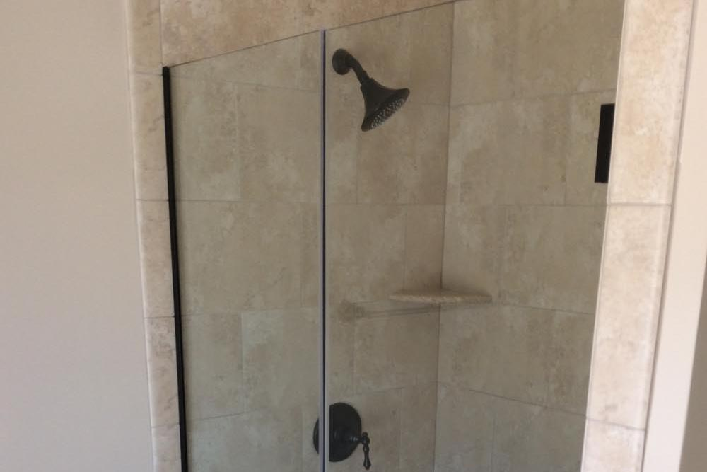 Smaller shower in another Round Hill home bathroom