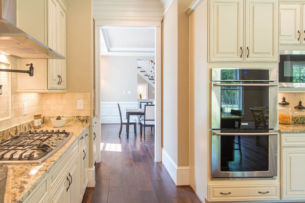 Stove and double oven in Fairfax kitchen