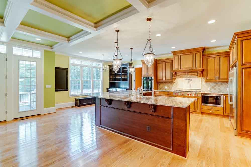 View of McLean home kitchen
