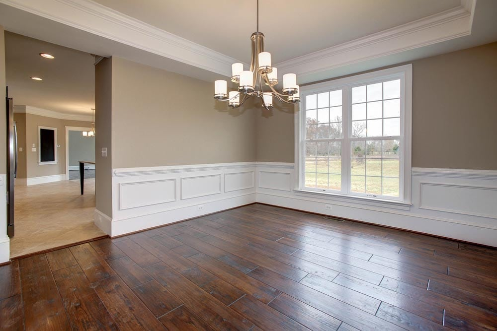 View of dining room into kitchen in Culpeper home