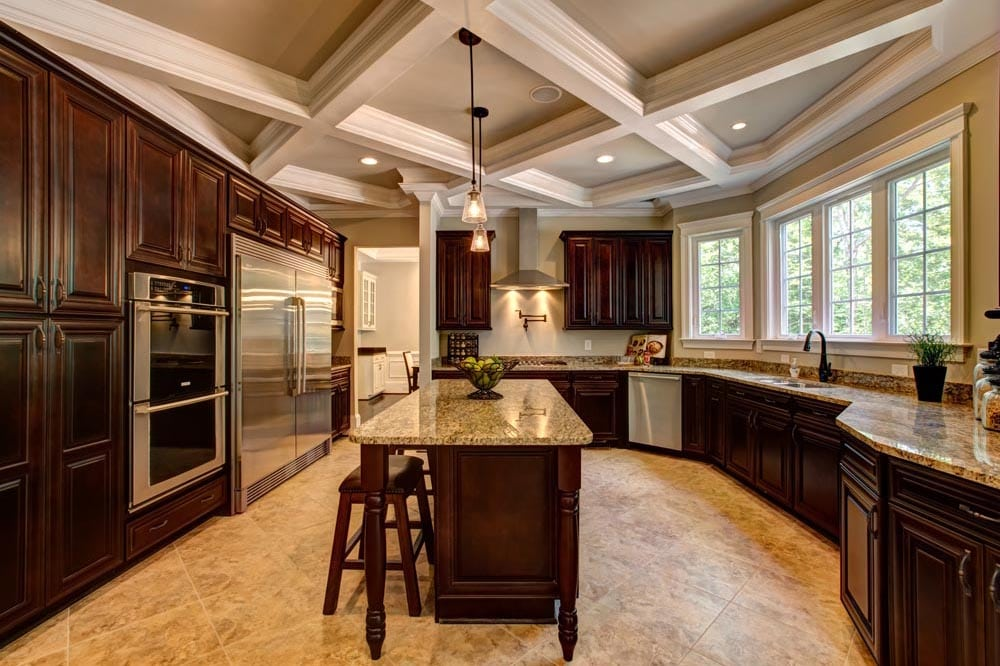 View of kitchen with all amenities, including double oven