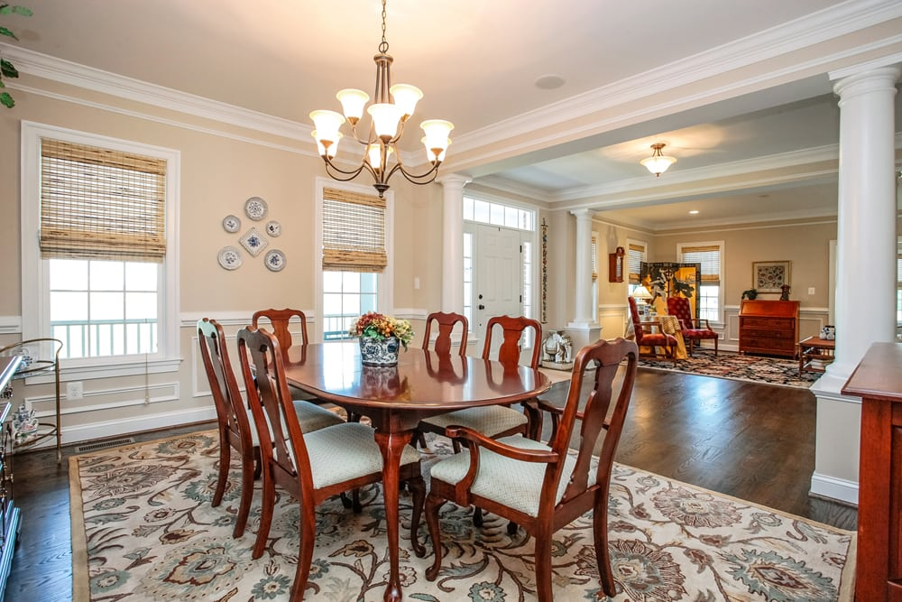 View of other side of furnished dining room in Nokesville home