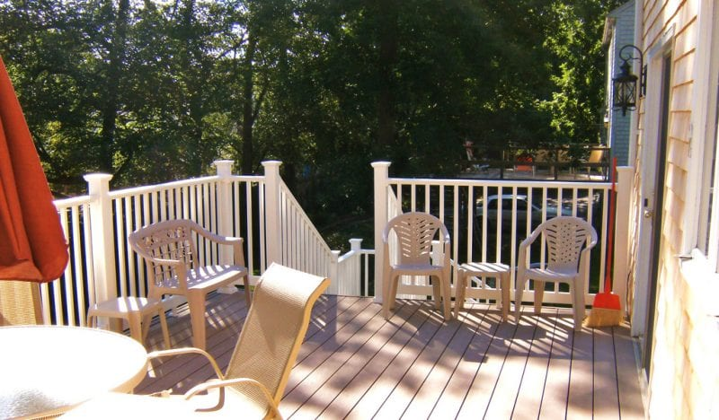 Deck with new railings