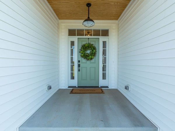 A beautiful front door built by a custom home builder in Northern Virginia