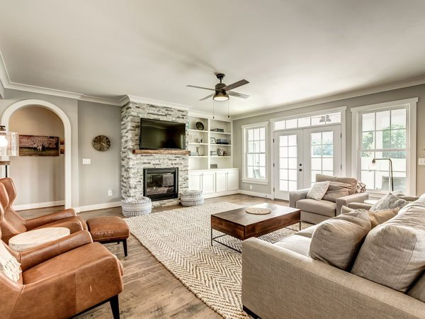 Furnished living room built by a custom home builder in Northern Virginia 2