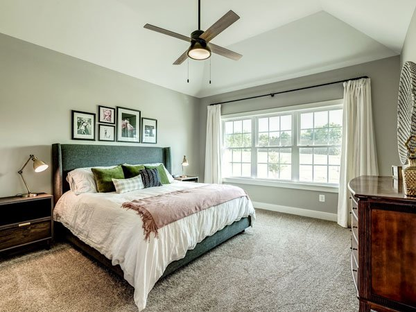 Master bedroom built by custom home builder in Northern Virginia