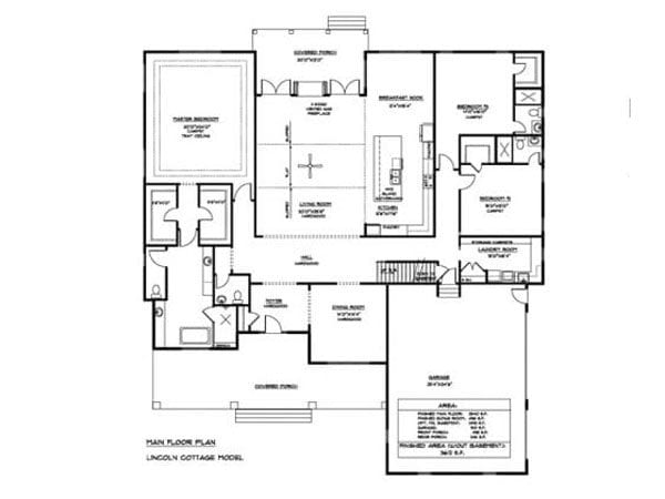 Lincoln cottage floor plan for Northern Virginia home